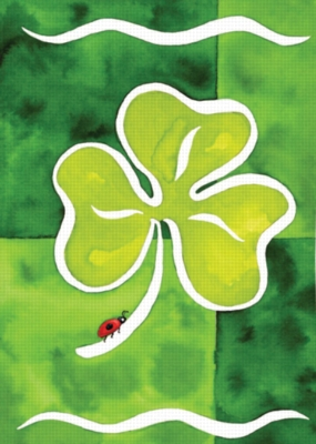 Shamrock & Friend - Garden Flag by Toland