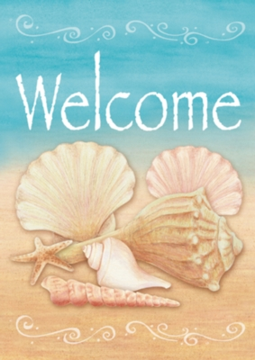 Welcome Shells - Standard Flag by Toland