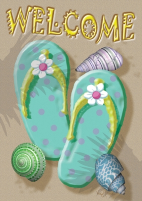 Flip Flop Welcome - Standard Flag by Toland