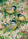 Sweet Chickadees - Garden Flag by Toland