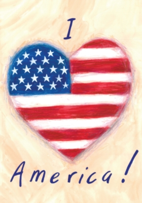 I Heart America - Standard Flag by Toland