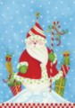Santa in Snow - Standard Flag by Toland
