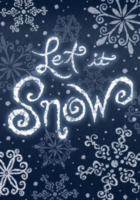 Let It Snow - Garden Flag by Toland