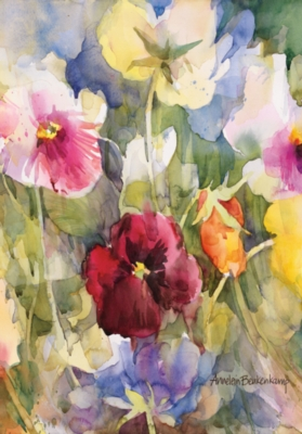 Pansies Posing - Standard Flag by Toland
