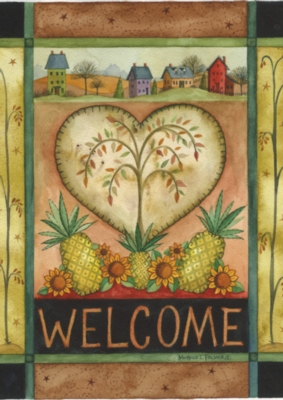 Welcome Heart - Standard Flag by Toland