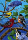 Birds on Blue - Garden Flag by Toland
