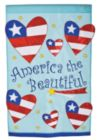 America The Beautiful - Small Applique Flag by Toland