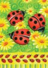 Ladybugs on Green - Garden Flag by Toland