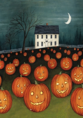 Pumpkin Hollow House - Standard Flag by Toland