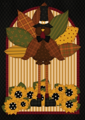 Quilted Turkey - Garden Flag by Toland