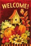 Fall Birdhouse - Garden Flag by Toland
