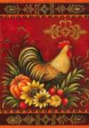 Fall Rooster - Garden Flag by Toland