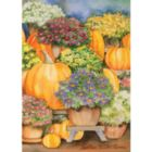 Pumpkins & Mums - Garden Flag by Toland