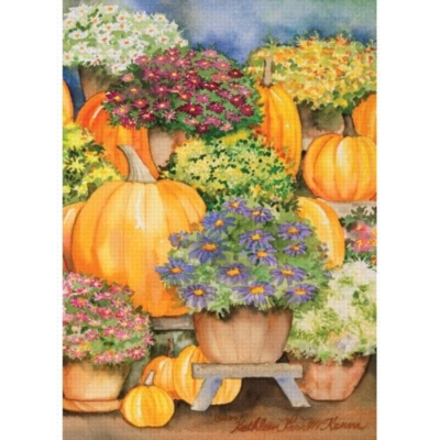 Pumpkins & Mums - Standard Flag by Toland