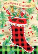 Christmas Greetings - Garden Flag by Toland