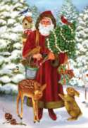 Woodland Santa - Garden Flag by Toland