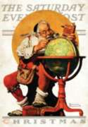 Santa & Globe Cover - Garden Flag by Toland