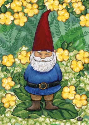 Garden Gnome - Garden Flag by Toland