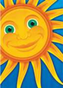 Smiling Sun - Garden Flag by Toland