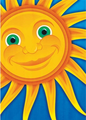 Smiling Sun - Standard Flag by Toland