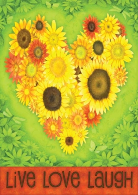 Sunflower Heart - Eco Friendly Garden Flag by Toland