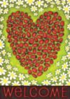 Ladybug Heart - Eco Friendly Garden Flag by Toland