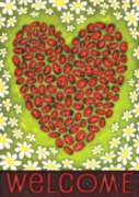 Ladybug Heart - Eco Friendly Standard Flag by Toland