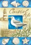 Coastal Life - Garden Flag by Toland