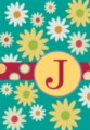Monogram Whimsey J - Standard Flag by Toland
