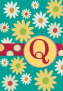 Monogram Whimsey Q - Standard Flag by Toland
