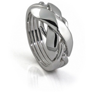 Classic II (Ladies) - 4 Band - Sterling Silver Puzzle Ring