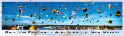 Balloon Festival: Albuquerque, New Mexico - 750pc Panoramic Jigsaw Puzzle by Buffalo Games