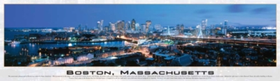 Boston, Massachusetts - 750pc Panoramic Hard Jigsaw Puzzle by Buffalo Games