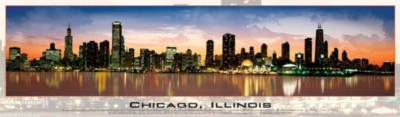 Chicago, Illinois - 750pc Panoramic Jigsaw Puzzle by Buffalo Games