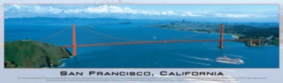 San Francisco, California - 750pc Panoramic Jigsaw Puzzle by Buffalo Games