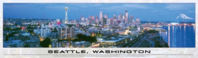Seattle, Washington - 750pc Panoramic Jigsaw Puzzle by Buffalo Games