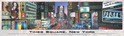 Times Square, New York - 750pc Panoramic Jigsaw Puzzle by Buffalo Games