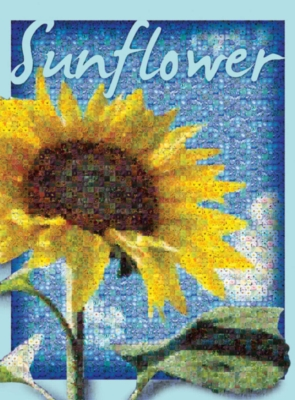 Sunflower - 1000pc Photomosaic Jigsaw Puzzle by Buffalo Games