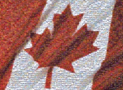 Canadian Flag - 1000pc Photomosaic Jigsaw Puzzle by Buffalo Games