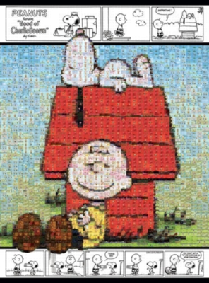 Peanuts: Snoopy & Charlie Brown - 1000pc Photomosaic Jigsaw Puzzle by Buffalo Games