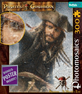 Pirates of the Caribbean: Jack at World's End - 300pc Photomosaic Jigsaw Puzzle by Buffalo Games