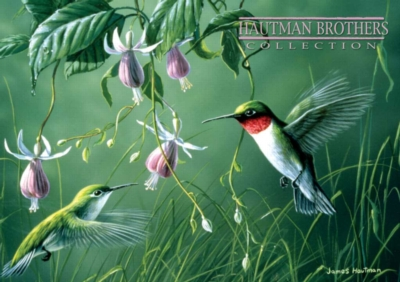 Hautman Brothers: Hummingbirds and Fuchsia - 300pc Large Format Jigsaw Puzzle by Buffalo Games