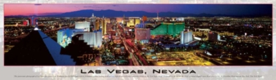 Las Vegas, Nevada - 750pc Panoramic Jigsaw Puzzle by Buffalo Games
