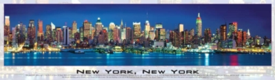 New York City, New York (Glow in the Dark) - 750pc Panoramic Jigsaw Puzzle by Buffalo Games