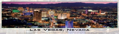 Las Vegas (Glow in the Dark) - 750pc Panoramic Jigsaw Puzzle by Buffalo Games