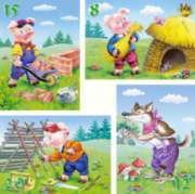 Three Little Pigs - 8,12,15,20pc Jigsaw Puzzle by Castorland