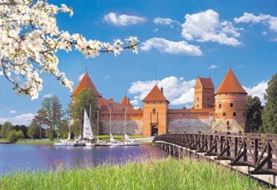 Trakai Castle, Lithuania - 1000pc Jigsaw Puzzle by Castorland