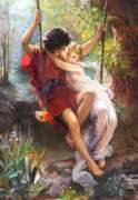 Pierre Auguste Cot: Springtime - 1000pc Jigsaw Puzzle by Castorland