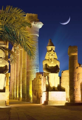Luxor Temple by Night, Egypt - 1000pc Jigsaw Puzzle By Castorland