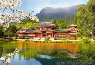 Replica of the Old Byodo-in Temple - 1000pc Jigsaw Puzzle by Castorland